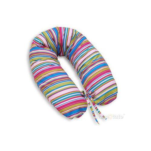 MAMO-TATO Poszewka na poduszkę dla kobiet w ciąży Paseczki amarantowe