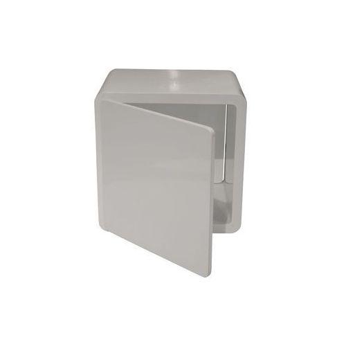 Lounge Cube Closed Biały Stolik Lakierowany na Wysoki Połysk 45x45 cm - 74069, Kare Design z sfmeble.pl