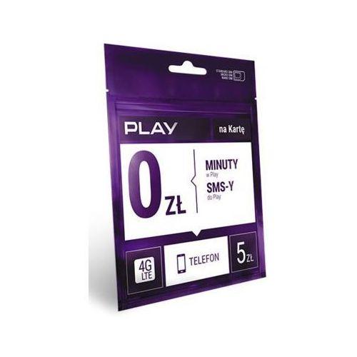 Starter PLAY na Kartę rozmowy i SMS-y w Play za darmo 5 PLN (5907782185732)