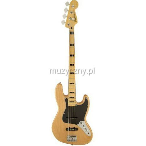 Fender squier vintage modified jazz bass ′70s natural gitara basowa