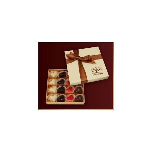 Czekoladki Cztery serca z czekolady
