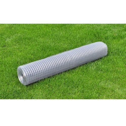 vidaXL Siatka, ogrodzenie cynkowane, 1x10 m, 0,9 mm - produkt z kategorii- przęsła i elementy ogrodzenia