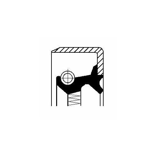 Pierścień uszczelniający wału, piasta koła CORTECO 16011841B