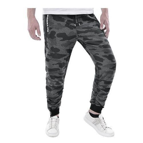 Spodnie męskie dresowe joggery atc1700 - antracytowe marki Risardi