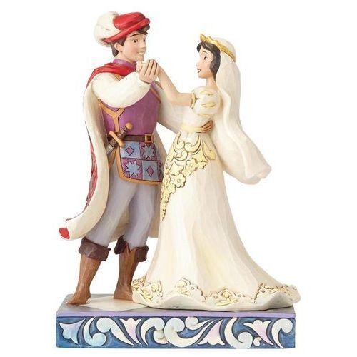 Jim shore Ślubna para śnieżka i królewicz (snow white & prince figurine) 4056747 artysty figurka ozdoba świąteczna