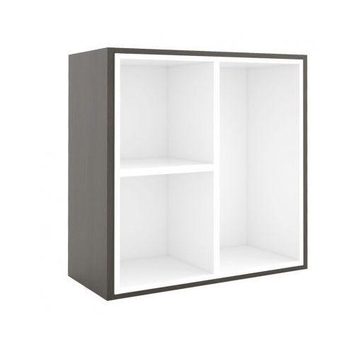 Biblioteka 800 x 800 mm + wewnętrzny moduł, wenge/biały