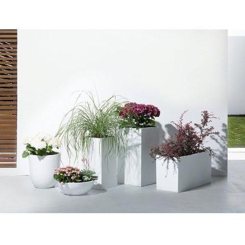 Doniczka biała - donica na balkon - ogrodowa - 34x34x12 cm - MURITZ (7081455261249)