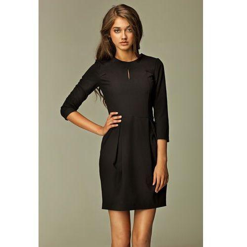 Praktyczna sukienka bombka czarna marki Nife