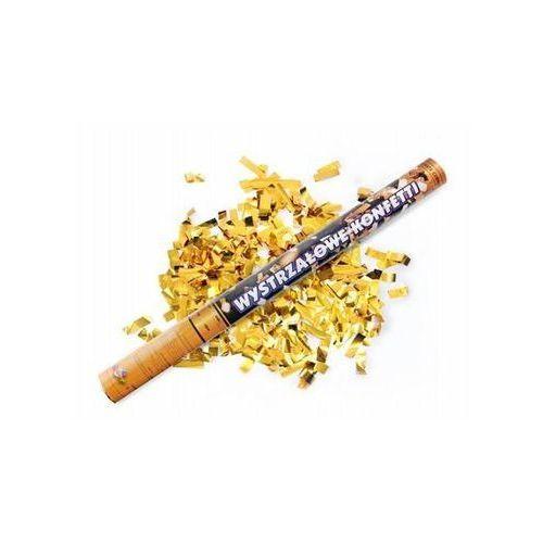 Tuba strzelająca - konfetti i serpentyny metaliczne złote - 60 cm - 1 szt.