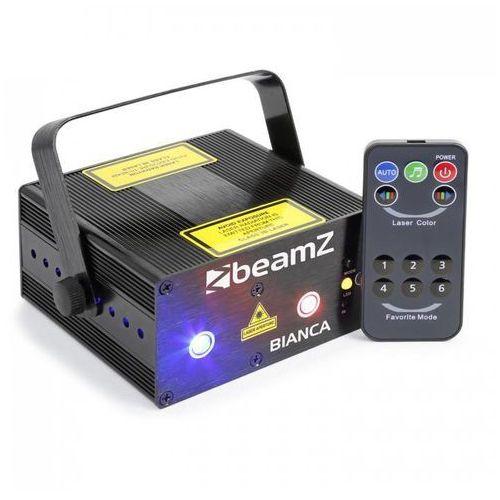 Beamz Bianca Laser dwupromieniowy 330 W RGB 12 efektów Gobos 7-DMX Master/Slave