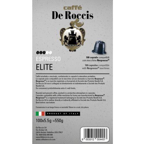 ELITE De Roccis kapsułki do Nespresso – 100 kapsułek (8003012004457)