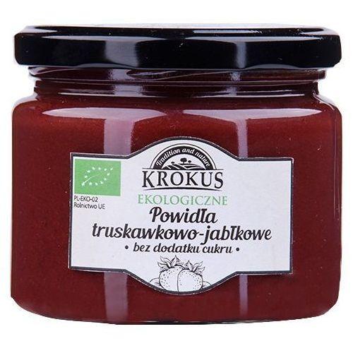 Ekologiczne powidła truskawka-jabłko bez cukru 310g - marki Krokus