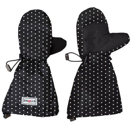 rękawice dziecięce youth mittz polka dot - black & white m-l (104-128 cm) marki Stonz