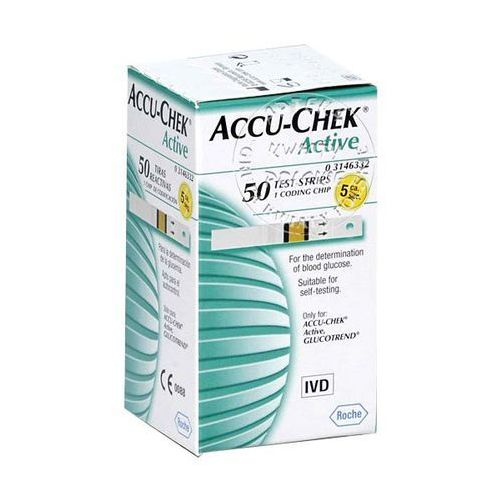 ACCU-CHEK ACTIVE paski testowe 50 sztuk z kat.: paski testowe