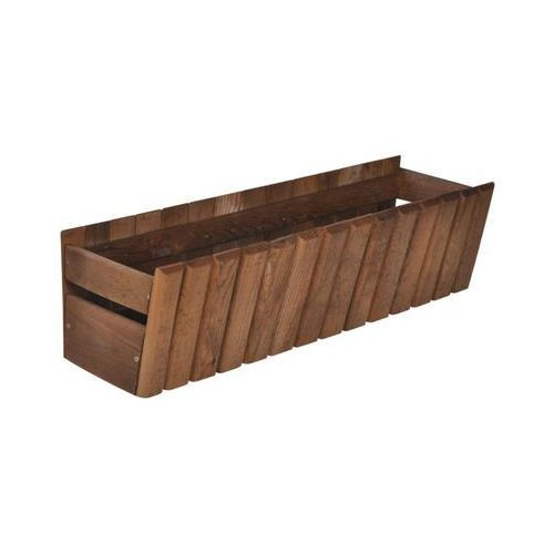 Donica / skrzynka balkonowa 60 x 20 cm drewniana brązowa STOKROTKA SOBEX
