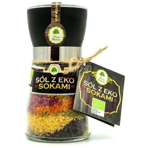 Dary natury - przyprawy i zioła bio Sól z sokami z owoców i warzyw bio 200 g - dary natury (5903246860818)