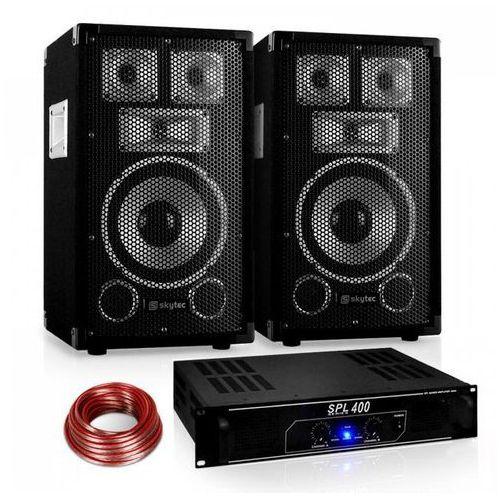 """Electronic-Star Saphir Series """"Warm Up Party"""" 8PLUS Zestaw nagłośnieniowy z parą kolumn 8"""" & wzmacniaczem 400W (4260365786490)"""