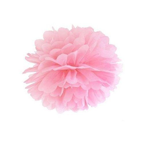 Dekoracja wisząca pompon kwiat - j. różowa - 35 cm - 1 szt. marki Ap