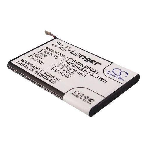 Nokia Lumia 800 / BV-5JW 1450mAh 5.37Wh Li-Ion 3.7V (Cameron Sino), CS-NK800XL