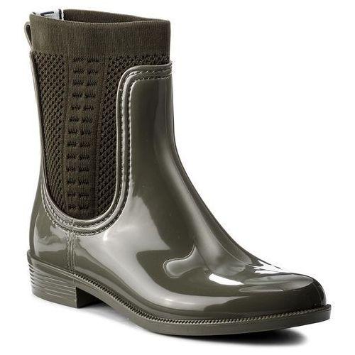 Kalosze TOMMY HILFIGER - Tommy Knit Rain Boot FW0FW02940 Dusty Olive 011, 36-42