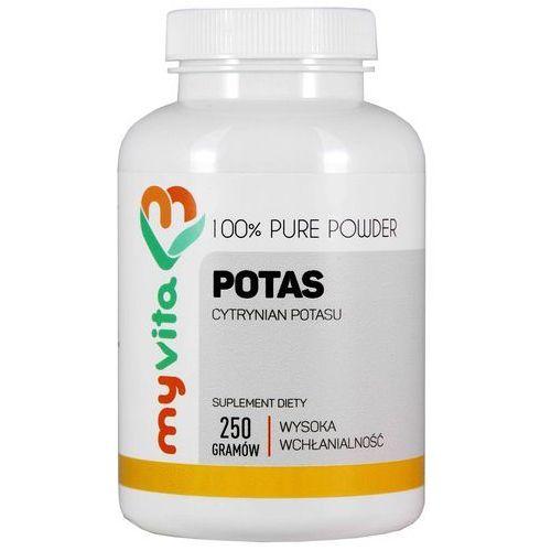 Potas 100% Cytrynian potasu czysty proszek bez dodatków 250g MyVita