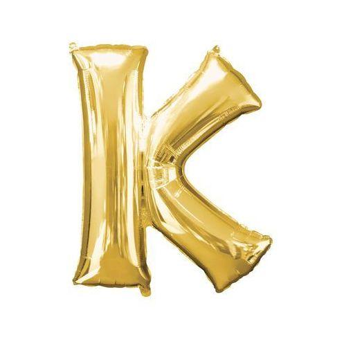 Balon foliowy złota litera K - 66 x 83 cm - 1 szt.