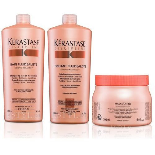 Kerastase fluidealiste zestaw dyscyplinujący włosy | szampon 1000ml + odżywka 1000ml + maska 500ml