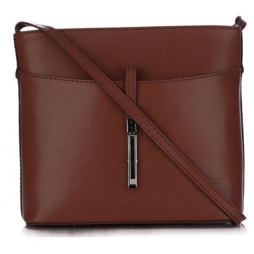 30d5f2b07b4fa Vera pelle Włoskie torebki skórzane listonoszki firmy wykonane z solidnej  skóry licowej brązowa (kolory) 101