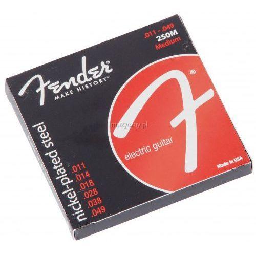 250m nickel plated struny do gitary elektrycznej 11-49 marki Fender