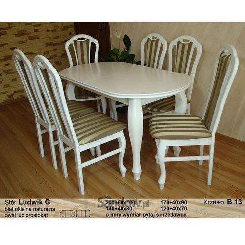 Zestaw do jadalni stół plus 6 krzeseł kolor biały połysk TANIO z kategorii zestawy mebli kuchennych