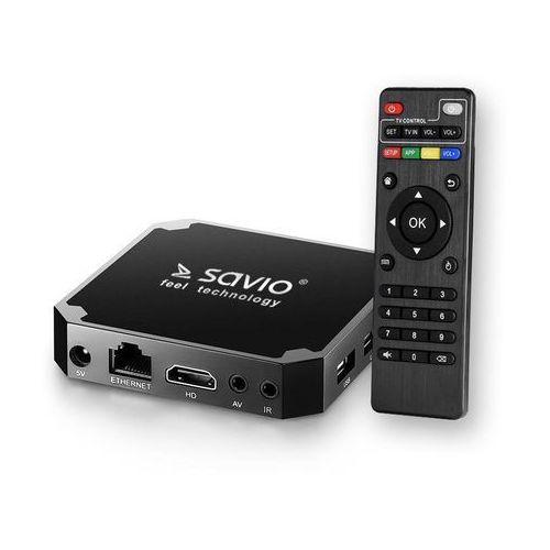 Odtwarzacz Savio Smart TV Box Basic One TB-B01, 1/8 GB, Android 7.1, HDMI v2.0, 4K, USB, WiFi, SD (5901986043997)