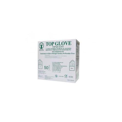Rękawice chirurgiczne lateksowe bezpudrowe jałowe /op. 50 par/ od producenta Top glove sdn. bhd.