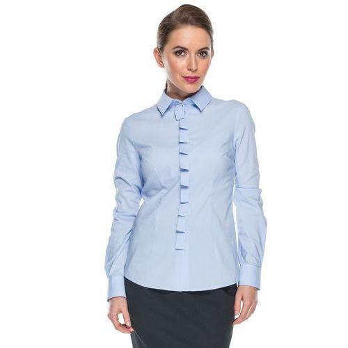 Błękitna koszula pionową listwą - Duet Woman, 1 rozmiar