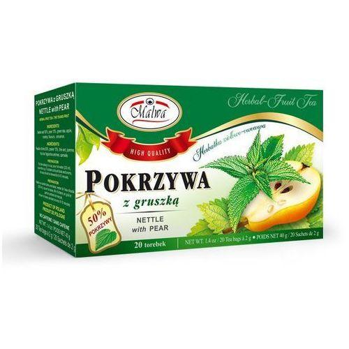 Herbaty malwa Alwa tea herbata ziołowa pokrzywa z gruszką 20tb