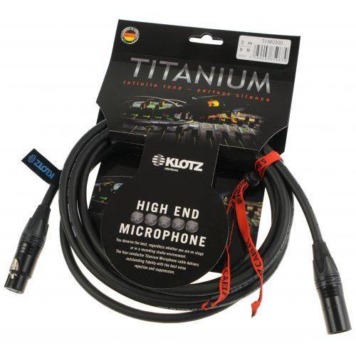 ti m0300 titanium star quad przewód mikrofonowy xlr-f xlr-m 3m marki Klotz