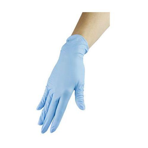 Rękawiczki nitrylowe - niebieskie, rozmiar S