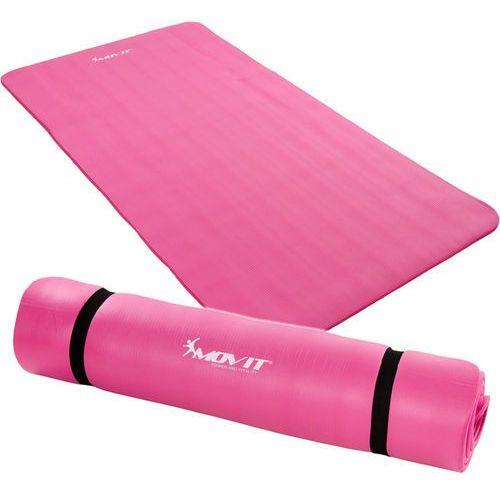 Movit ® Różowa mata piankowa 190x60x1,5cm do ćwiczeń / gimnastyki / fitness - różowy / 190x60x1,5 cm (20040321)