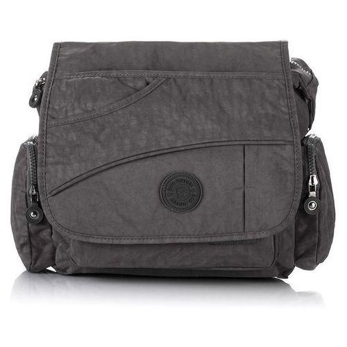 ccfe84e297385 Szara sportowa torebka damska na ramię listonoszka - szary 59,90 zł  komfortowa i wytrzymała torebka listonoszka, którą mogą nosić równocześnie  kobiety jak i ...