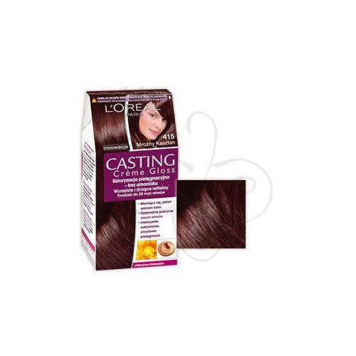 L'Oreal Paris Casting Creme Gloss farba do włosów Marron Glace 415 Mroźny kasztan - oferta [e515dca23f13742f]