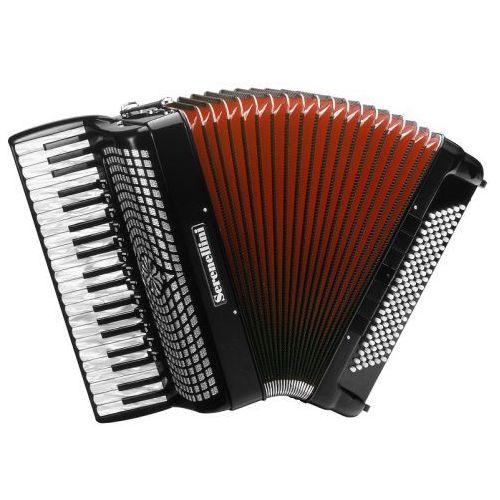 414 k 41/4/13+m 120/5/7 piccolo akordeon (czarny) marki Serenellini