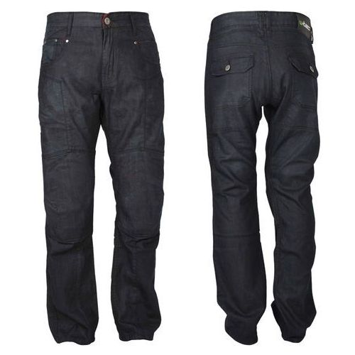 Męskie jeansowe spodnie motocyklowe W-TEC Roadsign, Czarny, 44/3XL, kolor czarny
