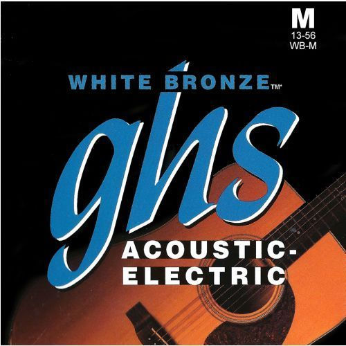 GHS White Bronze struny do gitary elektroakustycznej, Alloy 52, Medium,.013-.056