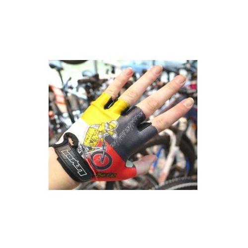 Rękawiczki Juniorskie  Baby Biker czerwone z żółtą aplikacją rozm. 5, Lemon z SPORT-PROFIT Rowery - Sklep Specjalistyczny