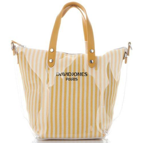 72964c29c245a David Jones Unikatowe Transparentne Torebki Damskie w paski ShopperBag  marki David Jones Żółty (kolory) 89,00 zł lubiana, designerska i pojemna  torebka ...