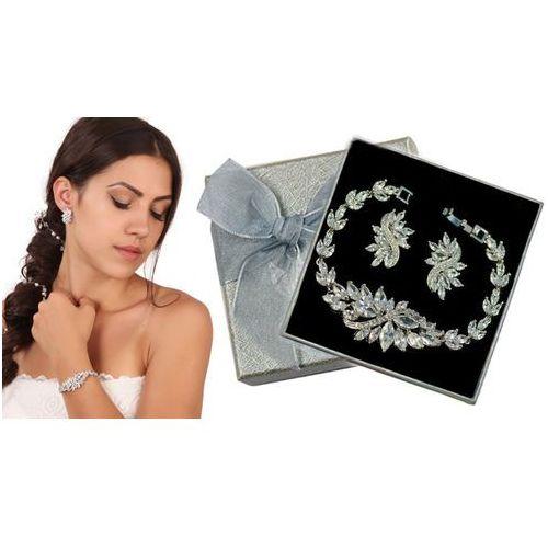 Kpl860 komplet ślubny, biżuteria ślubna z cyrkoniami k599/564 b655/31 marki Mak-biżuteria