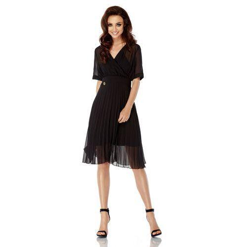 Zwiewna sukienka l255 czarny marki Lemoniade