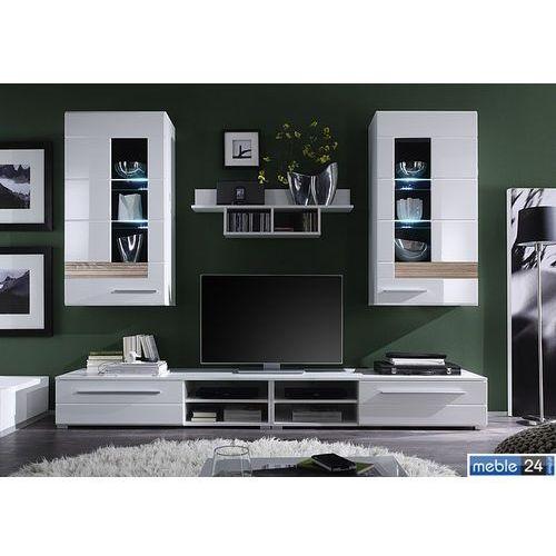 ART TEZZO meblościanka model 2- front wysoki połysk biały ze sklepu meble24sklep