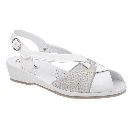 Sandały COMFORTABEL 710817-3 Weiss Białe na haluksy - Biały