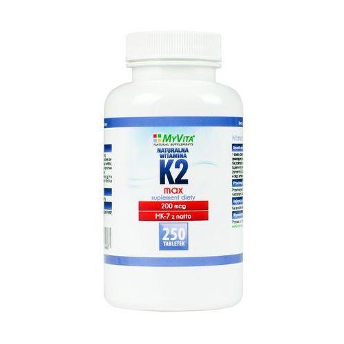 Witamina K2 MK-7 MAX z natto 200mcg (MyVita) 250 tabl. (5906395684687)