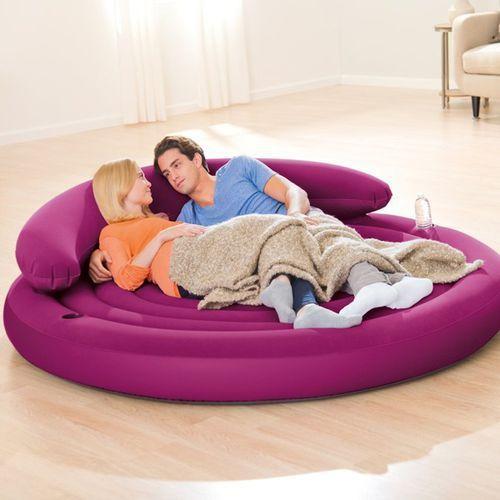 Intex Nowoczesna sofa 2osobowa - materac dmuchany 68881